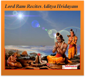 Lord Ram recites Aditya Hridayam