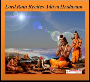 Lord Ram recites Aditya Hridayam